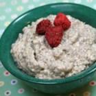 Chia Greek Yogurt Pudding - Soymilk, Greek yogurt, chia seeds, hemp seeds, and flaxseed combine with cinnamon and honey to make this delicious chia Greek yogurt pudding.