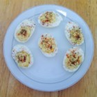 Horsey Eggs - It takes just minutes to assemble these zesty horseradish-flavored deviled eggs.