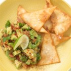 Anaheim Guacamole - Roasted chili peppers, tomatoes, onions and garlic bring a smoky sweetness to this zesty guacamole.