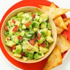 Big-Time Avocado Salsa - Chopped jalapeno peppers provide some heat to this classic avocado salsa.