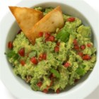 Carnivale Guacamole - Lots of creamy avocados, diced Serrano chili, garlic and cilantro made a delicious guacamole for a crowd-pleasing appetizer.