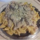 Show-Off Stroganoff - This creamy beef stroganoff made with mushrooms and pearl onions is so delicious it has been named Show-Off Stroganoff.