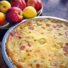 Nectarine Pie - This pie downright beautiful when made with white nectarines. Slip the skins off the fruit, slice in half and arrange in an unbaked pie shell. Combine heavy cream, sugar, cinnamon, flour and almond extract, and then pour this lovely concoction over and around the nectarines. Bake in a very hot oven for 40 minutes.