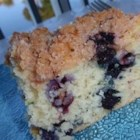 Bright Blue Monday Cake - A blueberry quick cake with streusel topping. It's sure to brighten your Monday mornings!