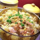 Hot German Potato Salad I - My Grandparents used to make this for us when we were children. The addition of escarole adds a great flavor to the bacon, potatoes and eggs.