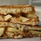 Grilled Peanut Butter Apple Sandwiches - These sandwiches are a simple, but impressive, combination of flavors and textures--apple, peanut butter, cinnamon--perfect for after-school snacking or a quick lunch.  Great with a glass of cold milk!
