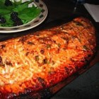 Cedar Planked Salmon - This is a dish my brother prepared for me in Seattle. Salmon is smoked by cooking it on a cedar plank. It is by far the best salmon I've ever eaten. I like to  serve with an Asian inspired rice and roasted asparagus.