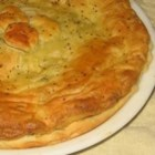 Asparagus and Mushroom Puff Pastry Pie - A delicious pie with asparagus, mushrooms, garlic and hollandaise sauce baked in puff pastry.
