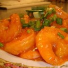 Slippery Shrimp - Shrimp are deep-fried and served with a flavorful spicy stir-fry sauce. It's based on a recipe from Yang Chow in Los Angeles.