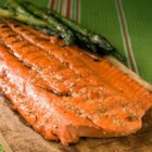 Alaskan BBQ Salmon - Simple and sweet, this recipe for grilling a whole salmon fillet is sure to be a family favorite.