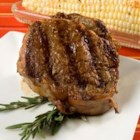 Blake's Best Steak - Great recipe for grilled steaks that does not require marinating for several hours. Rub the steaks with oil and garlic, salt and pepper to taste, and when the coals are ready, throw the steaks on the grate. Fresh rosemary is placed on top of the meat while grilling.