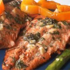 Marinated Wild Salmon - Featuring a marinade of cilantro, white balsamic vinegar, lemon juice, sugar, and garlic, this salmon is sensational grilled or broiled.