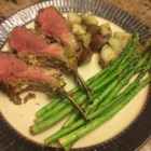 Pistachio Crusted Rack of Lamb - Rich, sweet pistachios add a fabulous taste and texture to this delicious rack of lamb.