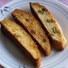 Nutty Pina Colada Biscotti - A refreshing biscotti reminiscent of the tropical drink. Great with tea or coffee! I never really measure the ingredients after rum but I've tried to approximate for you... My friends LOVE this recipe!