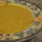 Yellow Split Pea and Frankfurter Soup - Wonderful, warming comfort food, this thick split-pea soap is great with fresh crusty bread.