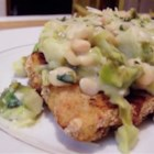 Breaded Chicken Limone - At a highly-rated Italian restaurant chain I ordered the Veal Limone with Tuscan Beans and Escarole. It was amazing, but a bit pricey. So I made my own recipe with easier-to-find and affordable ingredients: chicken breasts, navy beans, and Brussels sprouts.