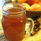 Hot Spiked Cider - Orange tea, apple cider, rum, cinnamon sticks and butter - bound to warm you up on a cold winter's night!