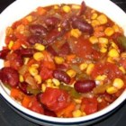 Insanely Easy Vegetarian Chili - This recipe is a great alternative to traditional chili.  It combines onions, carrots, celery, red and green bell pepper, mushrooms, tomatoes and corn.