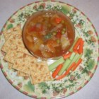 Diet Soup - A healthy mix of vegetables and a lovely flavor earns this soup's name well. Sensible and delicious, this will become a staple in your home. Cabbage, onion, carrot, celery, tomato, along with other vegetables coupled with onion soup mix, makes this a fant