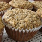 Poppy Seed and Banana Muffins - Mashed bananas and poppy seeds are mixed with whole wheat flour and wheat bran in these wonderful, hearty muffins.
