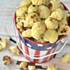 "Cauliflower Popcorn - Make this quick and easy recipe for cauliflower ""popcorn"" as a kid-pleasing after school snack."