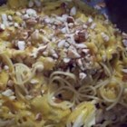 Chicken Tetrazzini III - Mushrooms, onions, chicken and Cheddar cheese converge to make a rich sauce for this satisfying baked pasta dish. For extra flavor poach the chicken in flavored broth then cook the spaghetti in the same water.