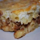 Pastitsio II - An amazing baked pasta dish combining a meat sauce and a cream sauce with a cheesy top.