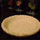 Grandma's Secret Pie Crust -  Vinegar is the secret to this recipe that has surely withstood the test of countless pie-makings. The ingredients stir up easily, the dough rolls out perfectly, and the crust bakes beautifully.
