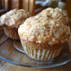Apple Strudel Muffins - These apple muffins with a crumbly cinnamon topping will smell so good in the oven, you'll want to bake a batch each morning!