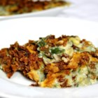 Spinach-Green Bean Casserole - This is such a great dish! You can get creative by adding more options like water chestnuts, nuts, green onion, shrimp... the list is endless. This recipe was a accidental mixture that has been a hit over and over.