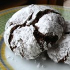 Chocolate Crinkles II - Chocolate cookies coated in confectioners' sugar...very good!