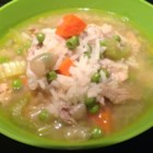 Classic Turkey and Rice Soup - Leftover turkey from Thanksgiving can be transformed into a classic turkey and rice soup perfect on cold evenings.