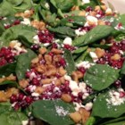 Greens and Craisins(R) - Kale, spinach, and dried cranberries are tossed with feta cheese creating a salad perfect for summer or Thanksgiving dinner.