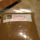 Leftover T-Day Turkey Stock - Put leftover turkey to good use with this recipe for turkey stock.