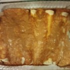 Kelly's Enchiladas - Enchiladas with a ground turkey and carrot filling are topped with a creamy red enchilada sauce that includes yogurt and cheese. You can't taste the carrot, but it is a good way to sneak in some vegetables.