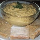 Pumpkin Hummus - Pumpkin puree, nutmeg, and allspice lend a fall flavor to this hummus.