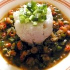 Crawfish Etouffee Like Maw-Maw Used to Make - Crawfish, onions, green bell pepper and garlic, seasoned with cumin and Worcestershire sauce, cooked etouffee style. Serve over rice.