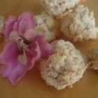 Popcorn Macaroons - Easy meringue style macaroons made with popcorn. This recipe uses a sugar substitute, but real sugar can be used instead.