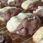 Half and Halfs - Chocolate chip cookies and chocolate chocolate chip cookies in one!