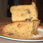 Applesauce Raisin Bars - Spicy bar cookies. Applesauce replaces fat. Raisins add flavor.