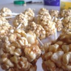 Peanut Butter Popcorn Balls - Peanut butter popcorn balls are a sweet, crowd-pleasing treat for the whole family in the fall. Form into balls or serve in a caramel corn fashion.