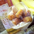 Bananas Foster I - Bananas in a cinnamon-caramel sauce flavored with rum, served warm over ice cream.