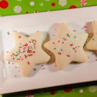 Butter Crisps - These make excellent cutout cookies for Valentine's Day or Christmas Cookies.
