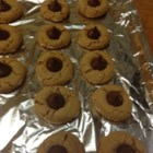 Peanut Butter Kisses II - Peanut butter cookies with chocolate kisses in the center.