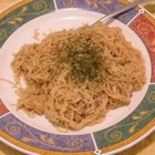 Spaghetti With Peanut Butter Sauce - Whip up a rich, exotic pasta sauce with peanut butter, soy sauce, crushed garlic, heavy cream, sesame oil and a dash of chili sauce. Toss with hot spaghetti and garnish with fresh cilantro.