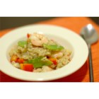Lemon Seafood Risotto - Bay scallops and shrimp are cooked in a creamy risotto seasoned with basil and lemon juice.
