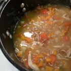 Chicken Barley Soup with Sweet Potato - Chicken and barley soup with sweet potatoes will keep you warm and full on crisp, fall days. Serve with a nice crusty bread.