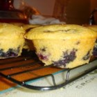 Blueberry Cornmeal Muffins - Blueberry muffins with the hearty flavor of cornmeal. Moist, rich, and heavenly! I'm happy to share my recipe with you.