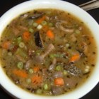 Mushroom Soup Without Cream - A delicious broth-based soup that can be modified to your taste! It's close to a Mushroom Soup that I had at a great deli in Florida--I've been trying to duplicate it ever since! I finally found a basic recipe that I was able to modify and this is the result. Great with salad or a sandwich. I hope that you enjoy it! Recommended mushrooms:  Shitake, Baby Portobellos and White/Button Mushrooms.