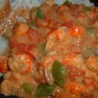 Crawfish Etouffee IV - A delicious dish with onions, bell pepper, crawfish and diced tomatoes, simmered in mushroom soup.